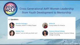 2020 NCLF-Cross Generational AAPI Women Leadership from Youth Development to Mentorship