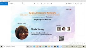 Asian Americans Network @ Clubhouse – Hope for Our Future, with Gloria Young, Member of the Board of Directors, Institute for Cultural Engagement